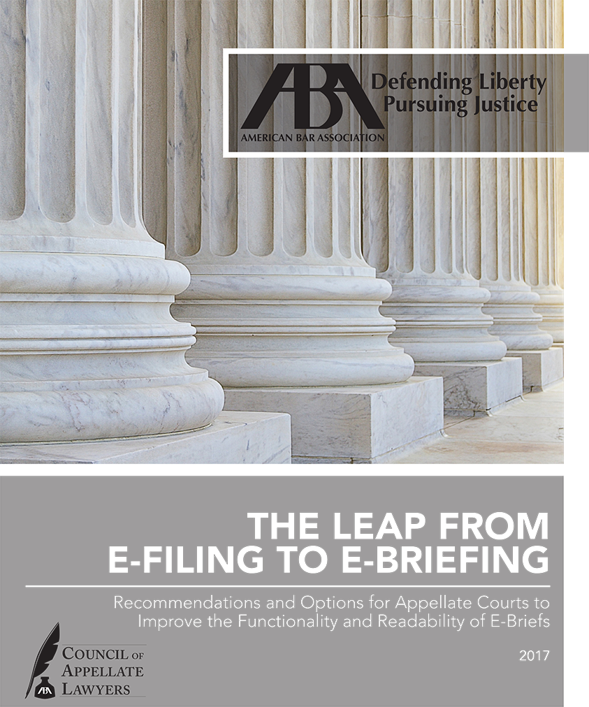 American Bar Association: The Leap from E-Filing to E-Briefing