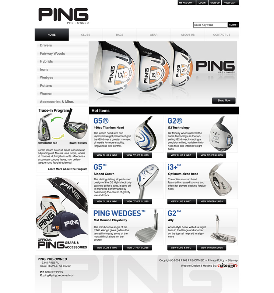 Ping Pre-owned